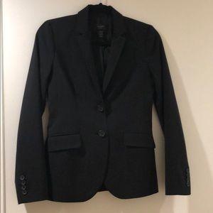 J.Crew Black Blazer Suit Jacket Tollegno 1900 Sz 0